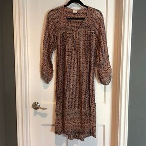 Vintage Indian gauze cotton dress xs-sm